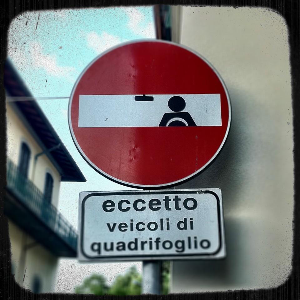Verkehrsschild Florenz