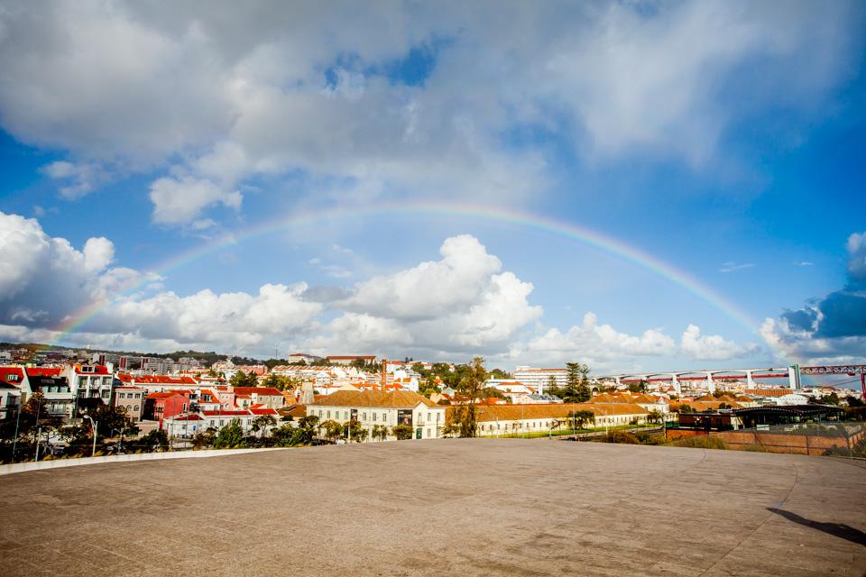 Regenbogen über Bélem