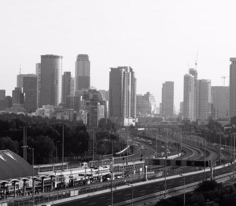 Blick über Tel Aviv Skyline