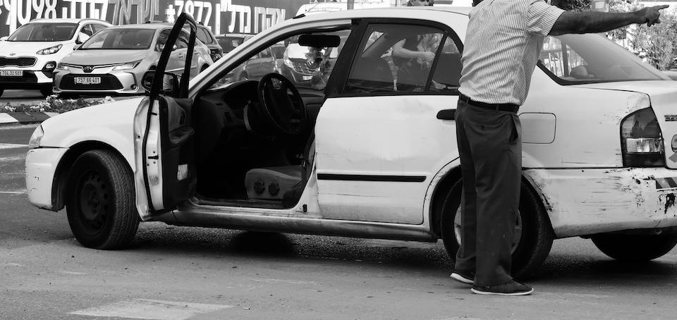 Diskussion am Straßenrand
