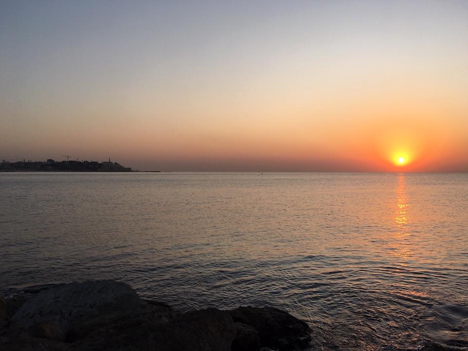 Sonnenuntergang über Jaffa