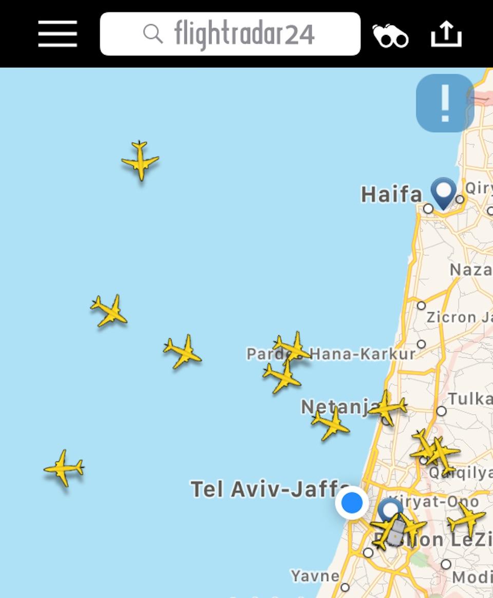 Ankommende Flugzeuge